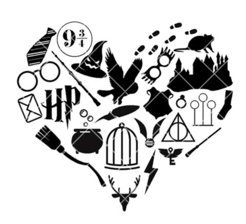 Wizarding Icon Heart SVG/PNG/EPS/JPG File Dibujos de