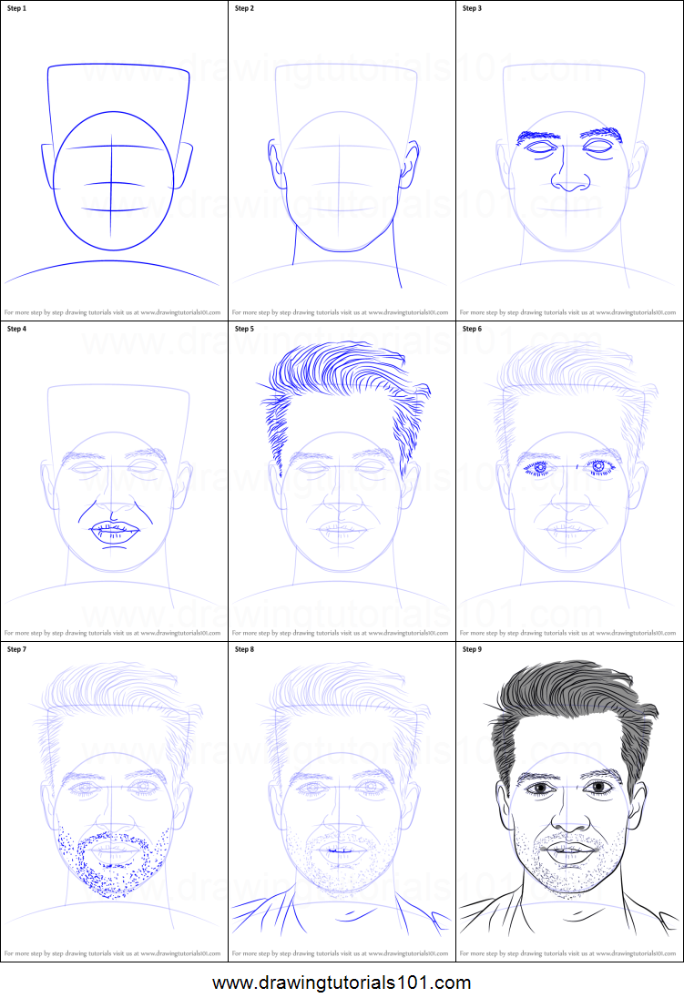 How to Draw Brendon Urie from Panic! At The Disco - DrawingNow