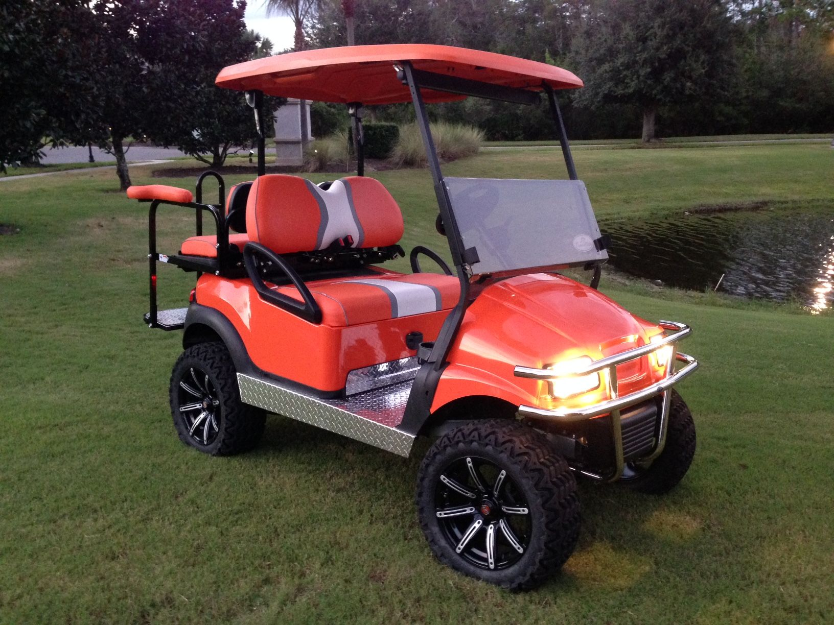 Custom orange club car precedent phantom Tennessee Volunteers golf on