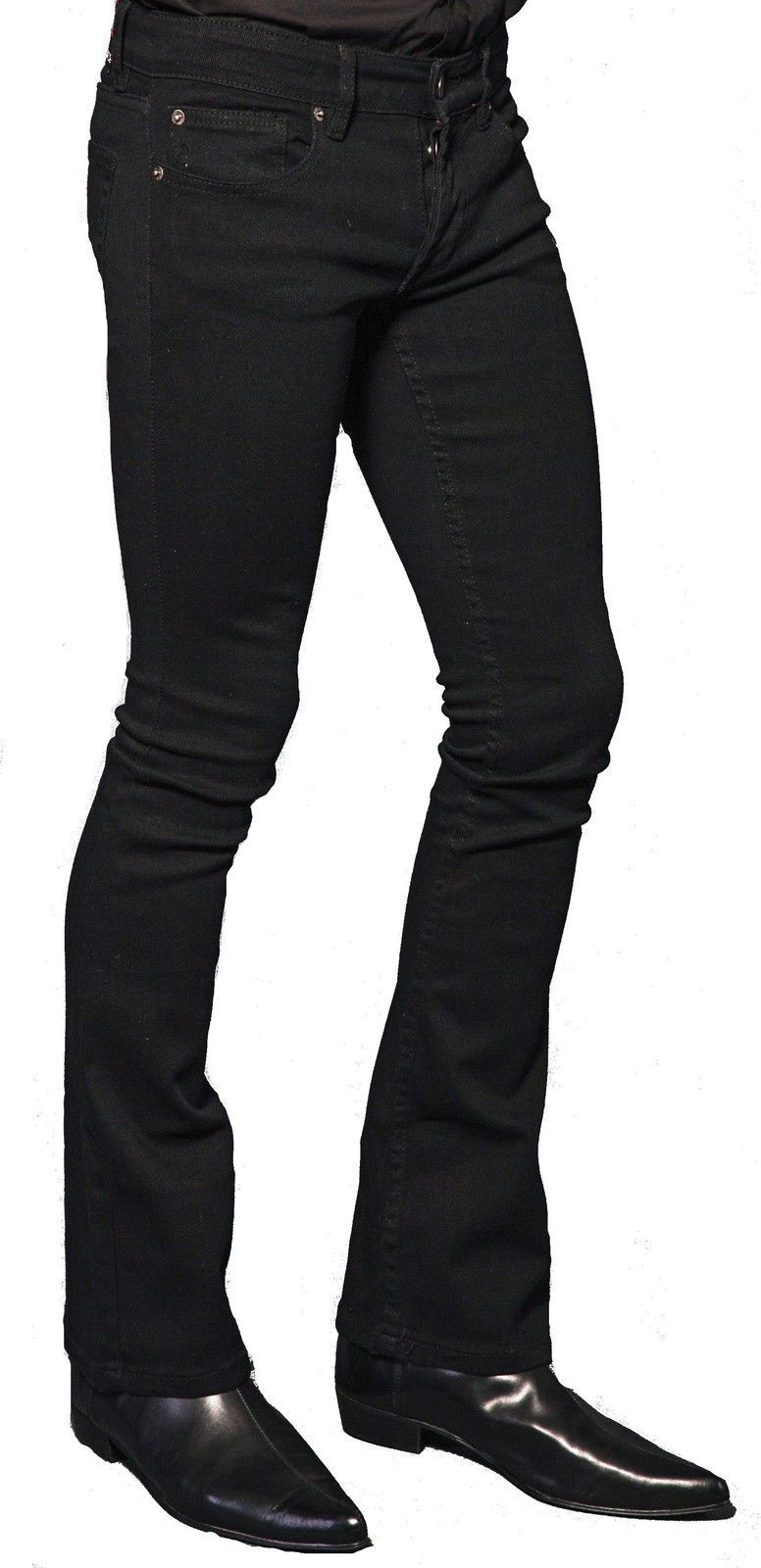 ed6b0f13d3d6 Lip Service Rocker Jeans Mens Black Bootcut Stretch Jeans
