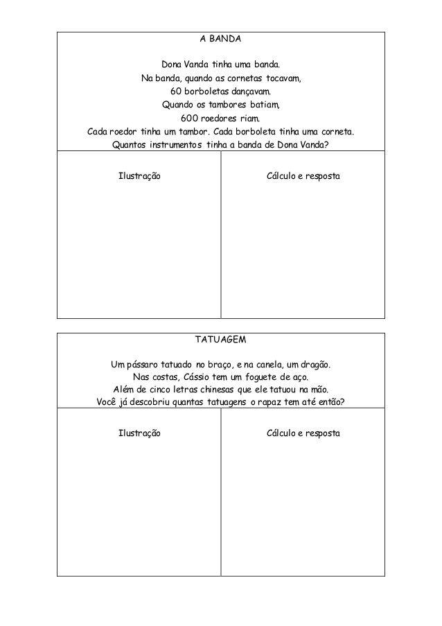 Poemas Problemas Atividades De Matematica 3ano Matematica Legal