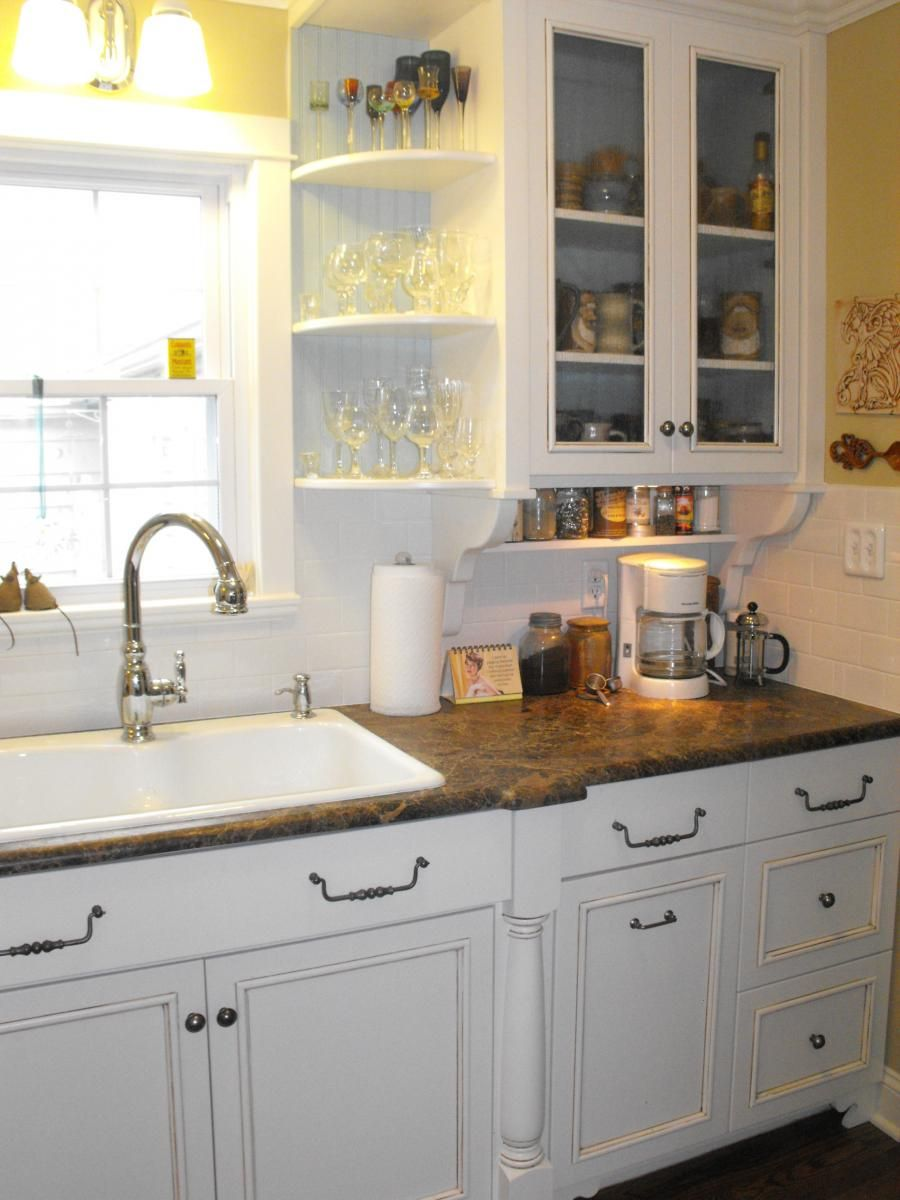 1940 S Kitchen Remodel Cultivate Com Love The Sink Rounded Cabinet Detail And Subway Tile Kitchen Design Decor Kitchen Design Kitchen Renovation