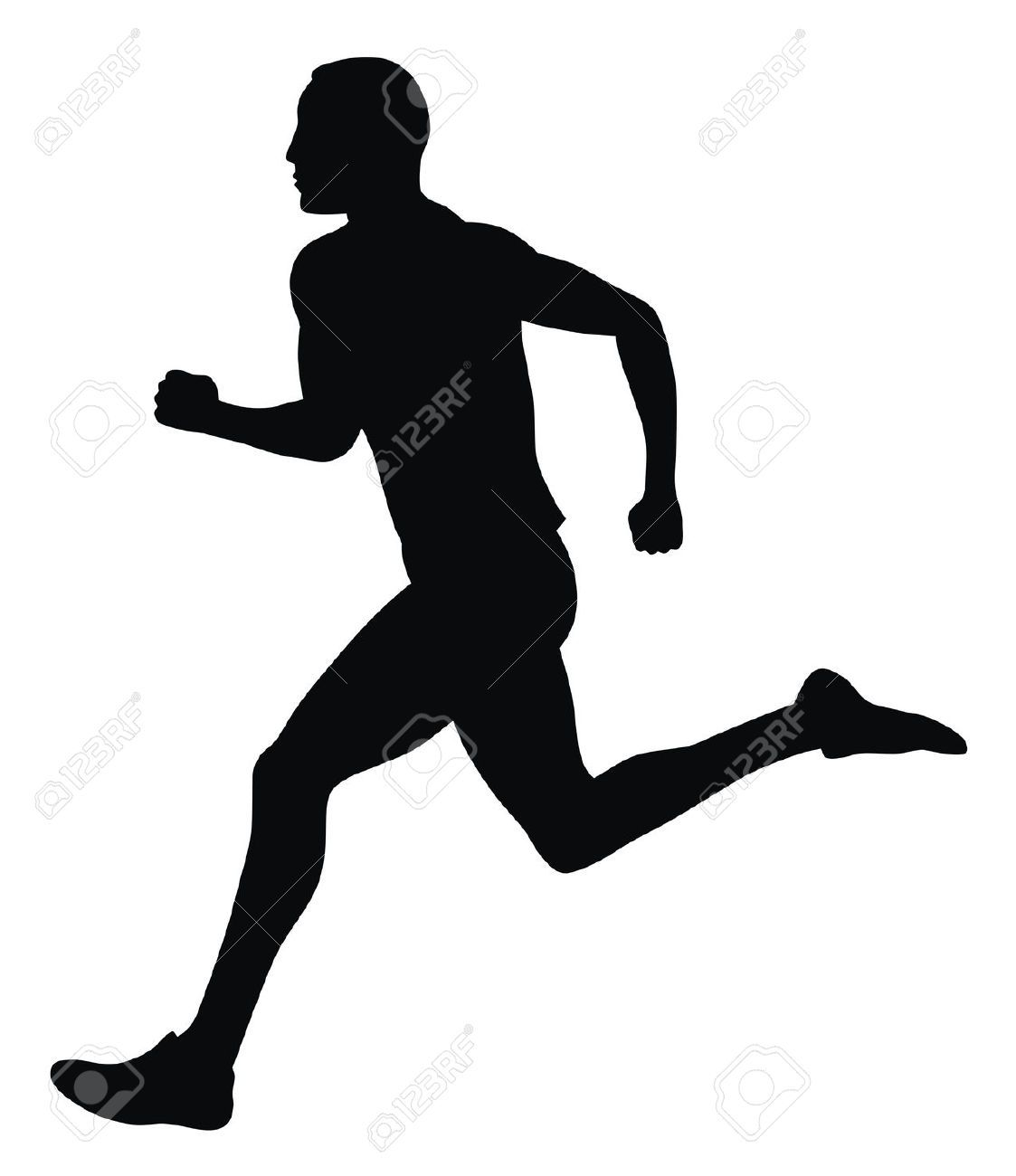 4506982 Abstract Vector Illustration Of Marathon Runner Stock Vector Runner Running Silhouette Jpg 1123 1300 Running Tattoo Silhouette Sports Images