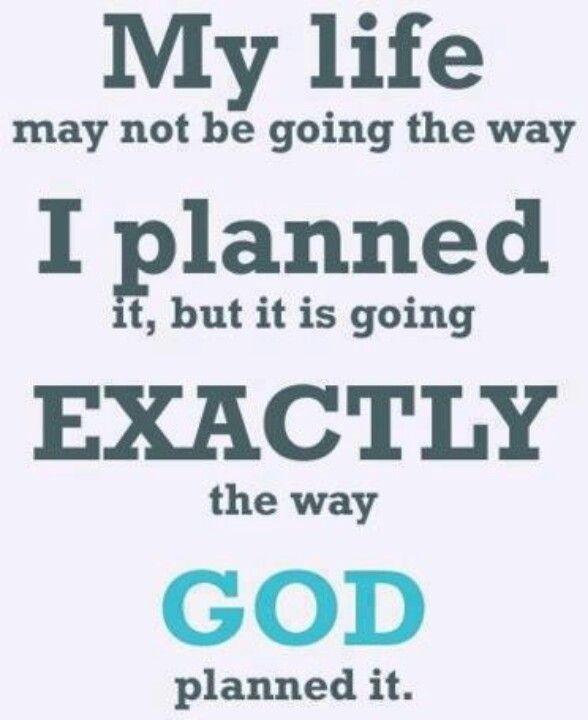 God planned it...
