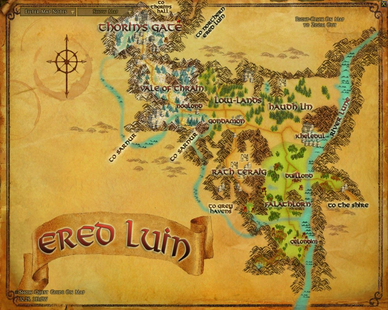 16 best maps images on pinterest lord of the rings map of leveling guide to ered luin custom page for the kinship website for aragorns allies on the arkenstone server of lord of the rings online publicscrutiny Images