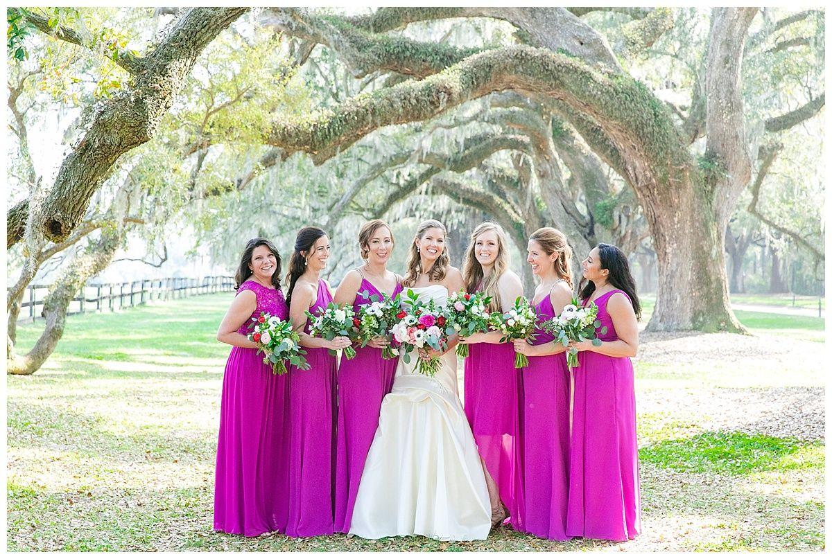 54b3fc28773 Begonia bright pink David s Bridal bridesmaid dresses