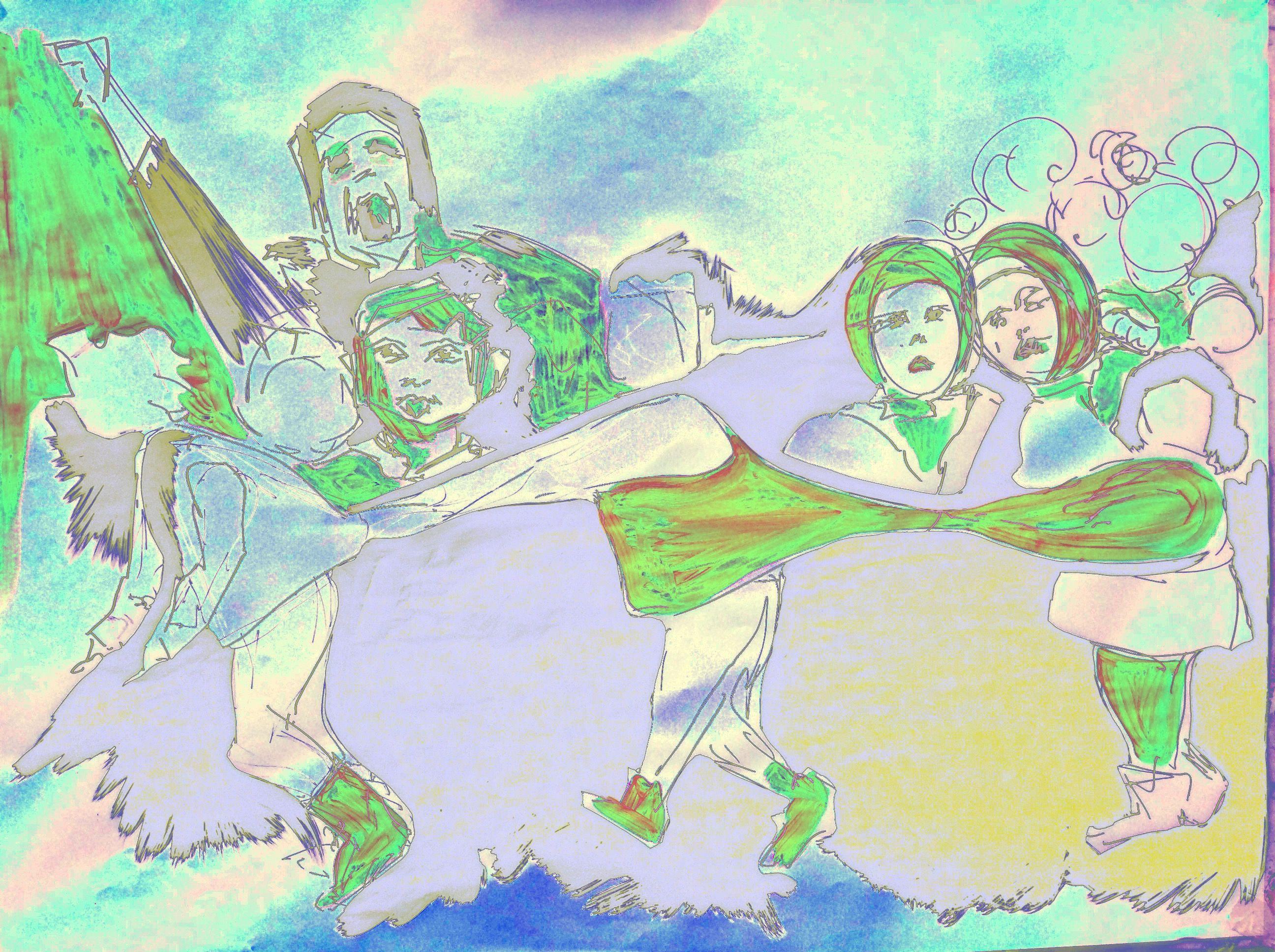 ABK MORTSEL - bewerkte foto van tekening, werk van an