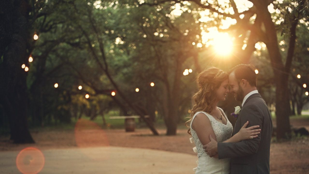 texas ranch wedding ceremony in the trees dancing under the