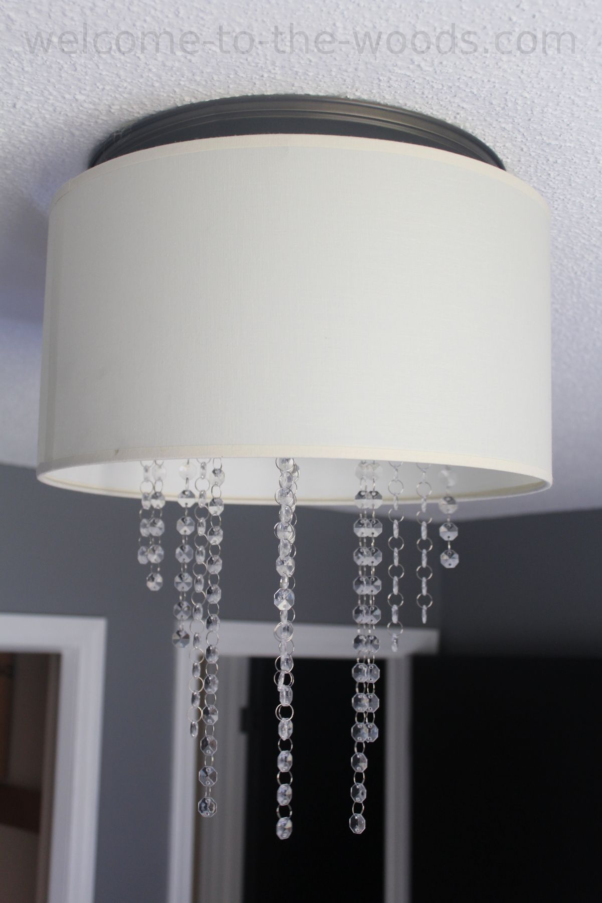 Diy drum chandelier tutorial office makeover orc pinterest drum diy drum chandelier photo tutorial she made this for a total of 6 use an old lamp shade and repurpose it into a chandelier with this tutorial mozeypictures Images