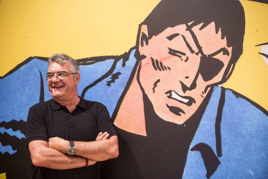 Manel Gimeno. Inauguración de 'València Línia Clara', la exposición que abre el #IVAM al cómic (Foto: EVA MÁÑEZ) #VLC