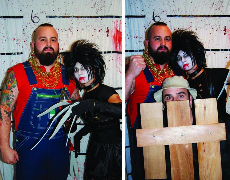 Last minute Halloween costume ideas, photo booth via StyleLogical - halloween costumes with beards ideas