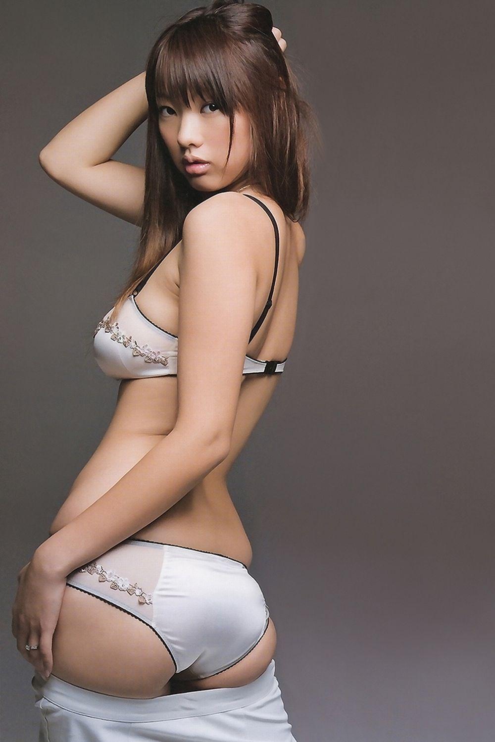 Asian white satin panty