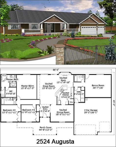 Kel And I Have Researched And Researched And Have Decided This Is The House We Re Having Built In A Coupl House Blueprints Rambler House Plans New House Plans