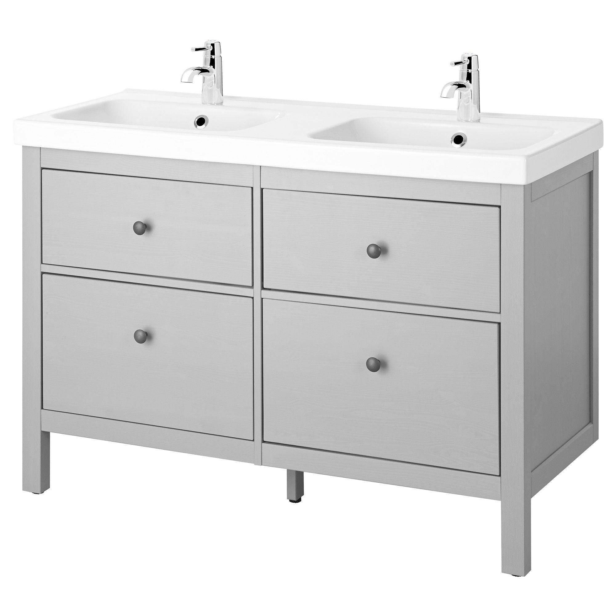 HEMNES / ODENSVIK Sink cabinet with 4 drawers, gray | HEMNES, Sinks ...
