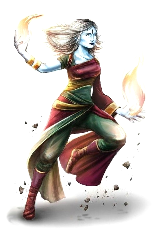 Female Samsaran Wizard Pathfinder PFRPG DND D&D 3.5 5th
