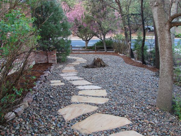 Desert Landscaping With River Rock : Rock bed landscaping ideas google search flowers