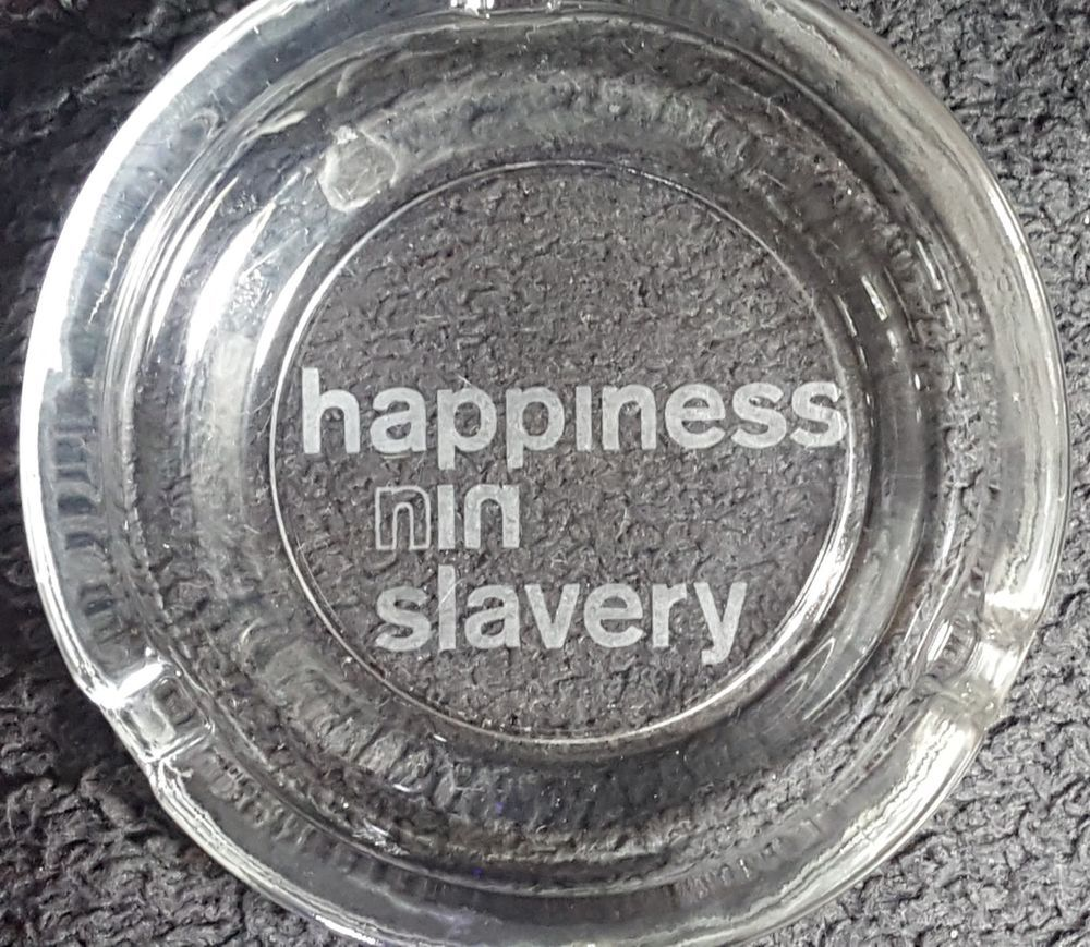 Hand Etched Nine Inch Nails Happiness In Slavery Square or Round ...