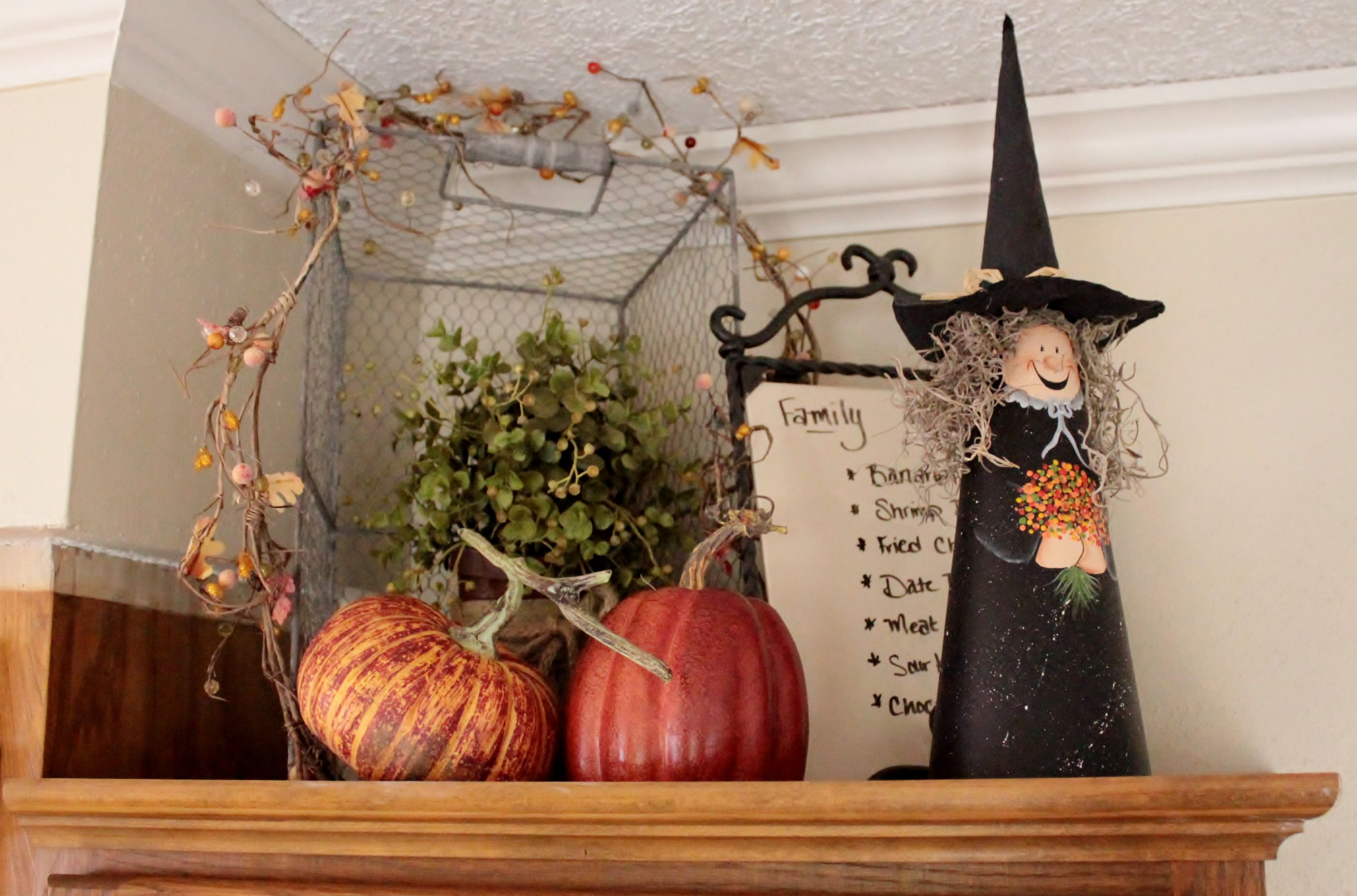 Pin By Stacey Shropshire On Kitchen Ideas Fall Decor Above Cabinet Decor Holiday Deco