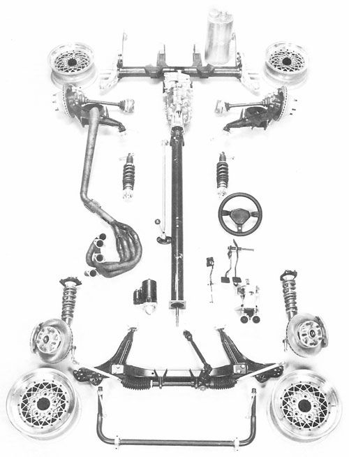 The D Production kit of SCCA-approved alternate parts for
