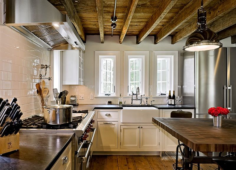 Beams Crisparchitects Home Renovation Farmhouse Kitchens Kitchen Rustic Ideas Country