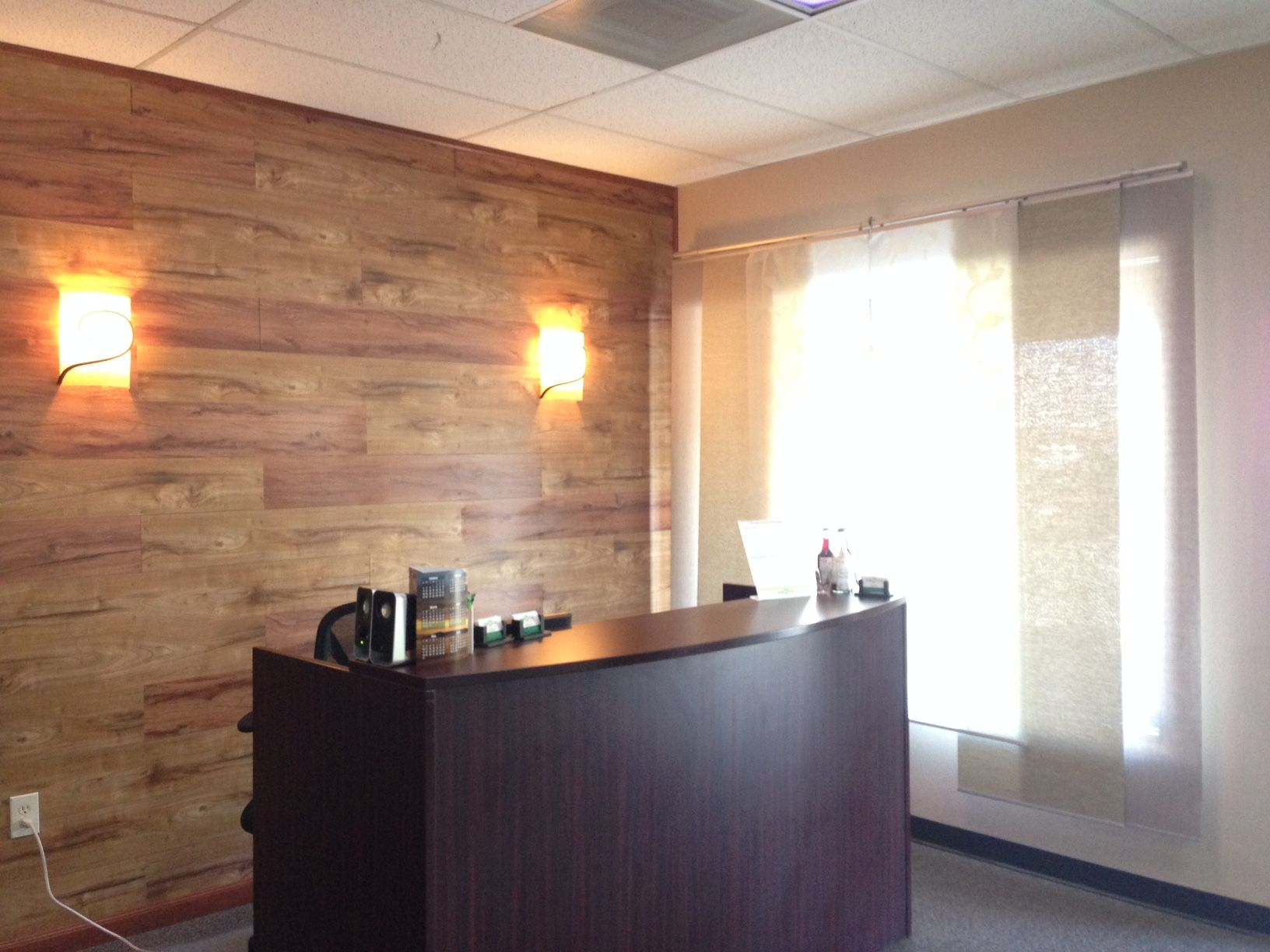 jade star acupuncture s newly remodeled office with wood paneling