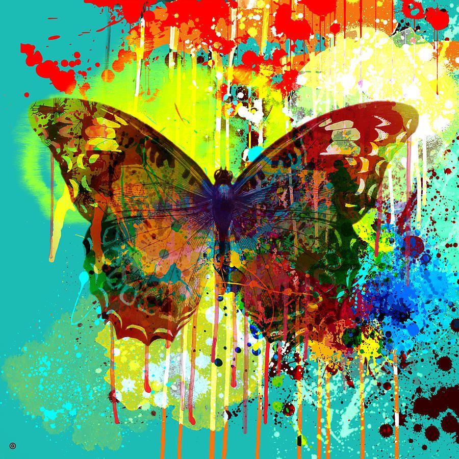 Abstract Butterfly Digital Art