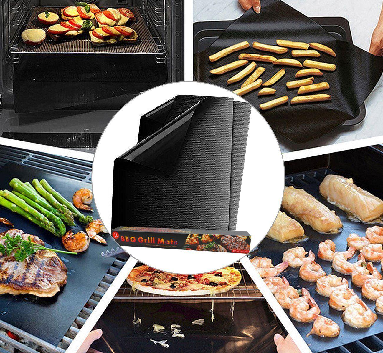 Amazon Com Grill Mats 16 X 13 Inch Non Stick Bbq Grill Baking
