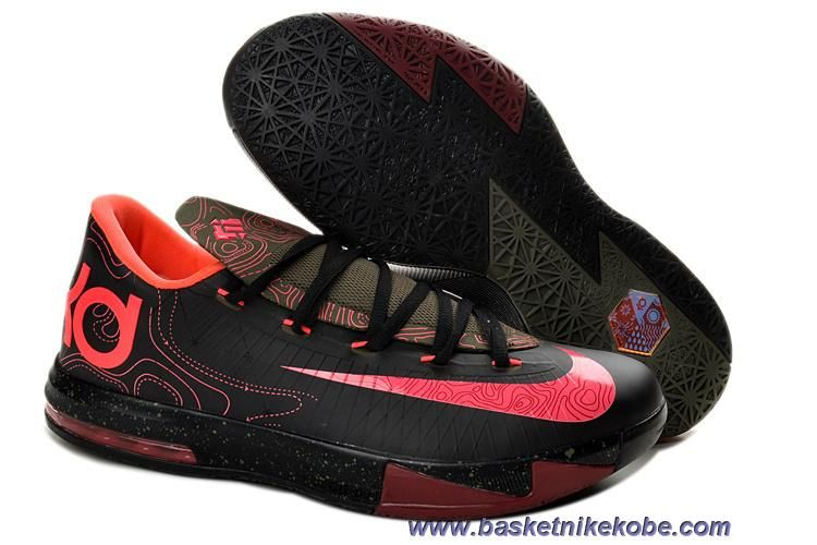 premium selection 0e8c8 d7d4c Noir Atomic Rouge-Medium Olive-Fire Rouge 599424-006 Meteorology Femmes  Nike KD VI Sortie