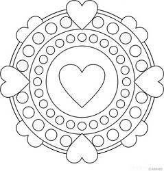 Anasinifi Mandala Calismasi Ornekleri Mandala Boyama Sayfalari