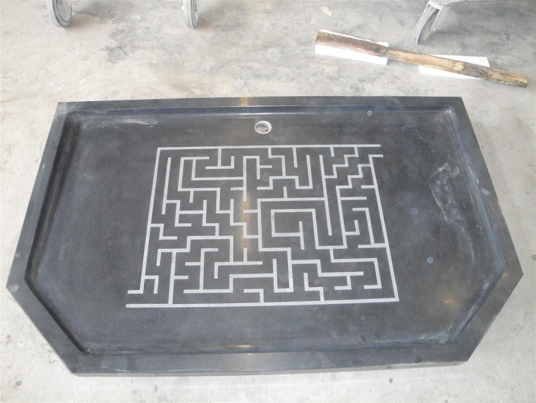 Dorpel Badkamer Graniet : Douchebak graniet met doolhof antislip huis badkamer