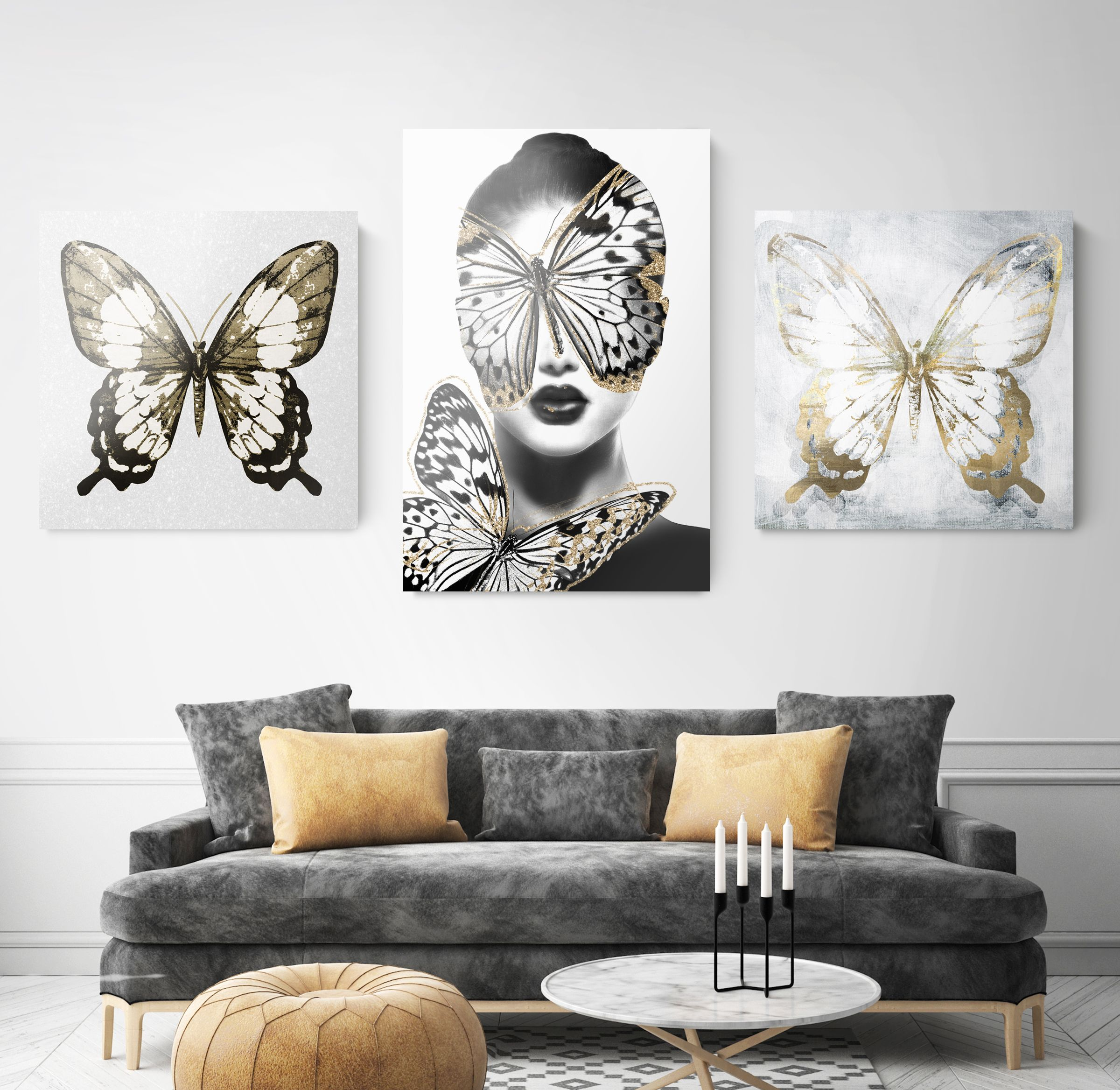 Dream Room Fashion Wall Art With Butterflies Wall Decor Oliver Gal Butterfly Wall Decor Wall Decor Decor