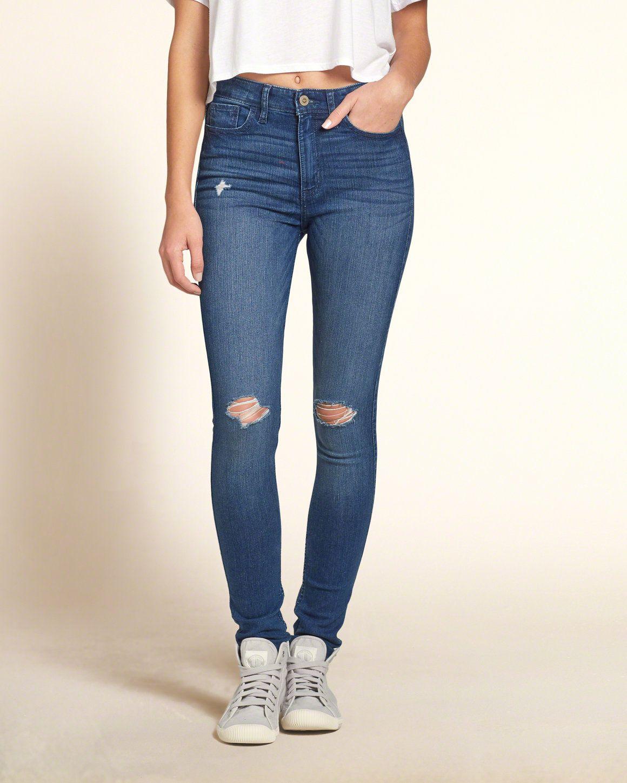 girls hollister high rise super skinny jeans girls