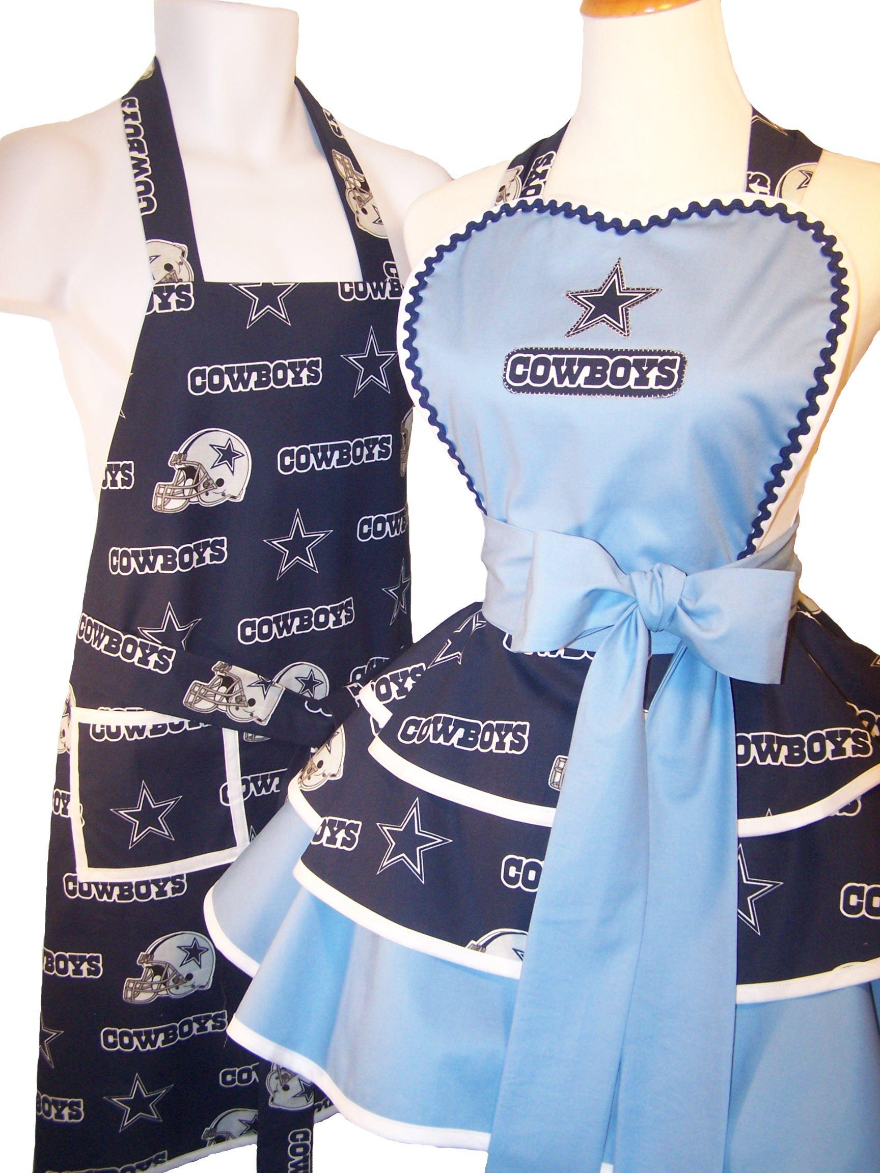 96213294 His and Hers Tail-gate Aprons! Dallas Cowboys!   Well La Di Da ...