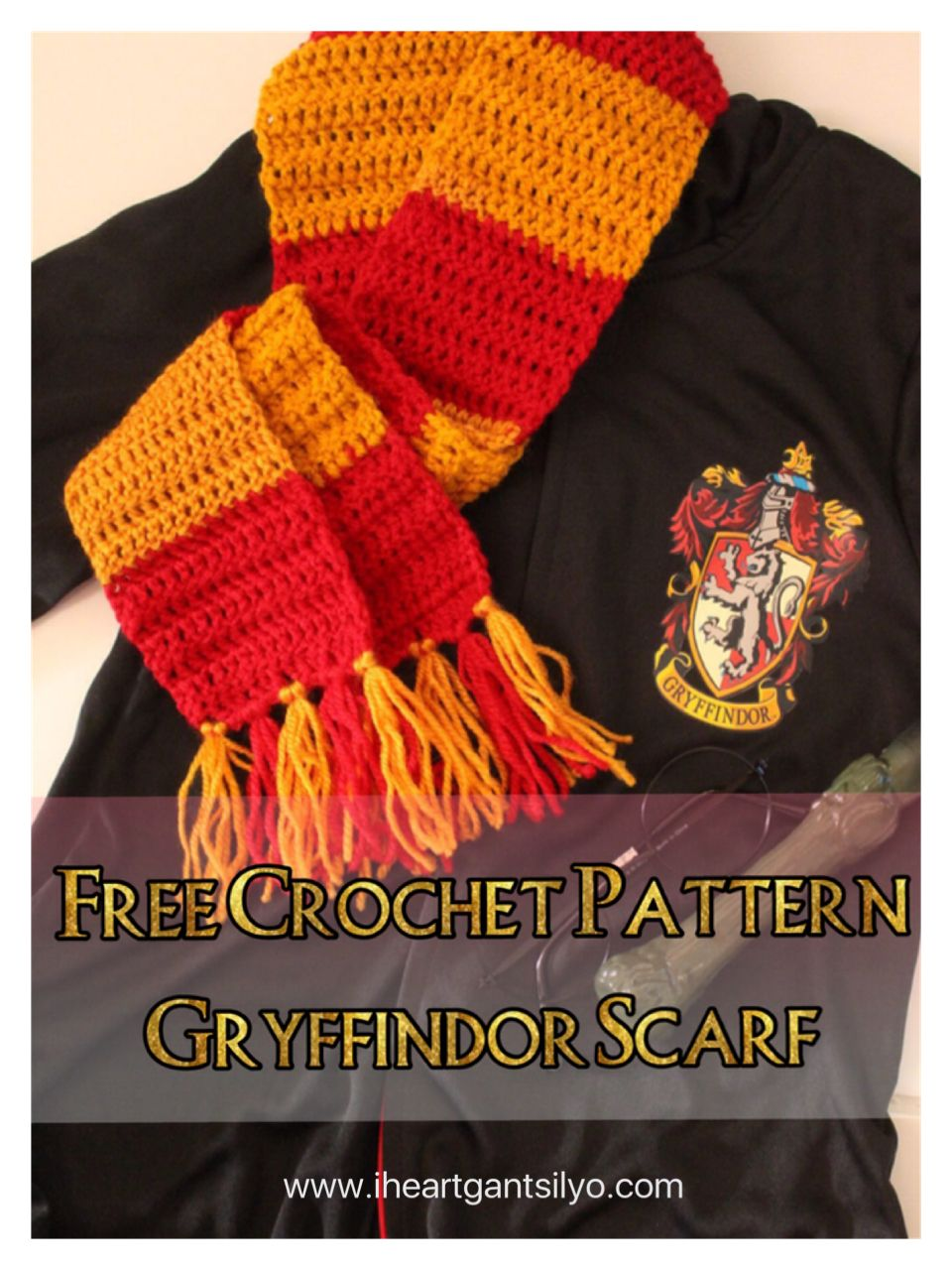 Fantastic Harry Potter Gryffindor Scarf Knitting Pattern Ornament ...
