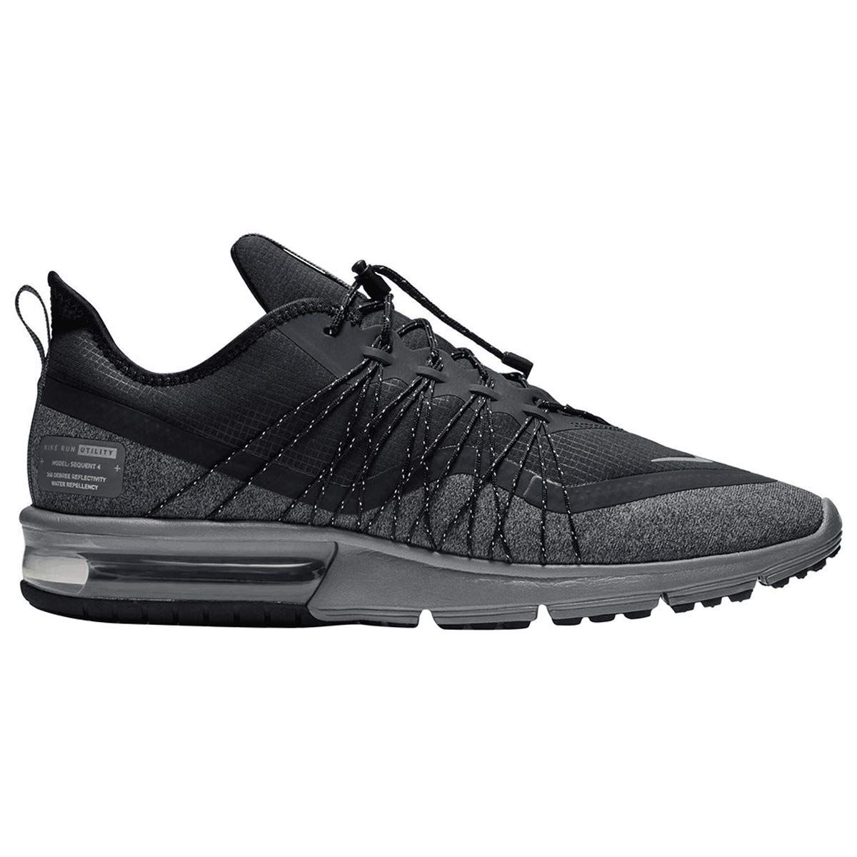 Nike Air Max Sequent 4 Utility Mens BlackMatallic Silver 11.5 M US