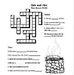 cain and abel crossword puzzle worksheet- Google Search