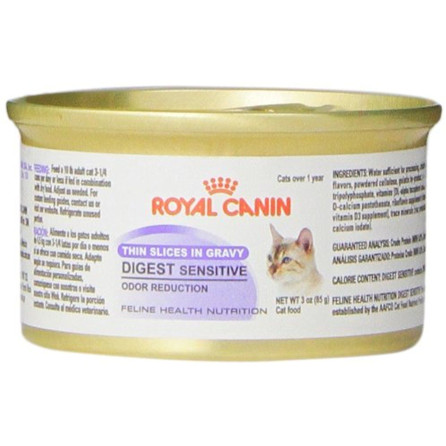 Royal Canin 24 Can Feline Health Nutrition Digest Sensitive Canned Cat Food 3 Ounce Per Can Thin Slices In Gravy Canned Cat Food Feline Health Wet Cat Food