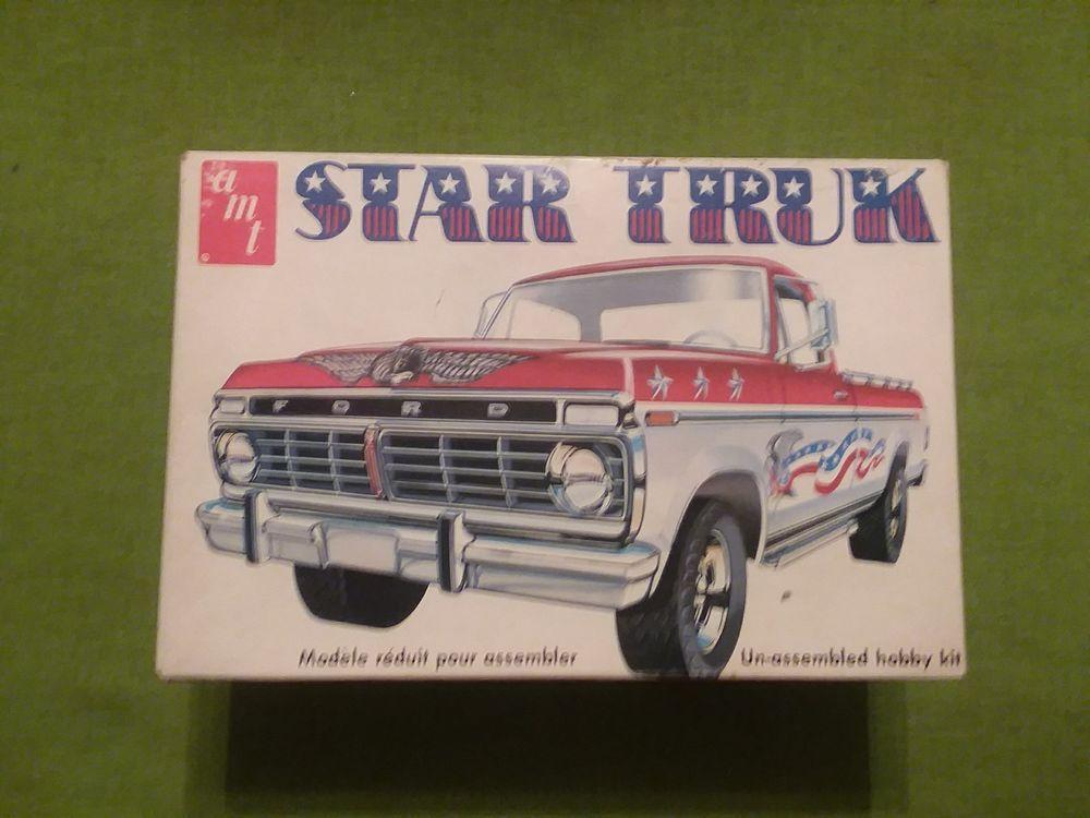 1974 77 Ford F350 Amt Ford Pickup Star Truk Truck Model Parts Kit Amt Model Cars Kits Plastic Model Kits Model Kit