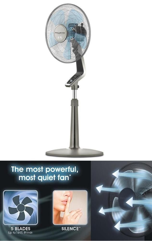 products rowenta pedestal gray silence extreme turbo speed box fan silver