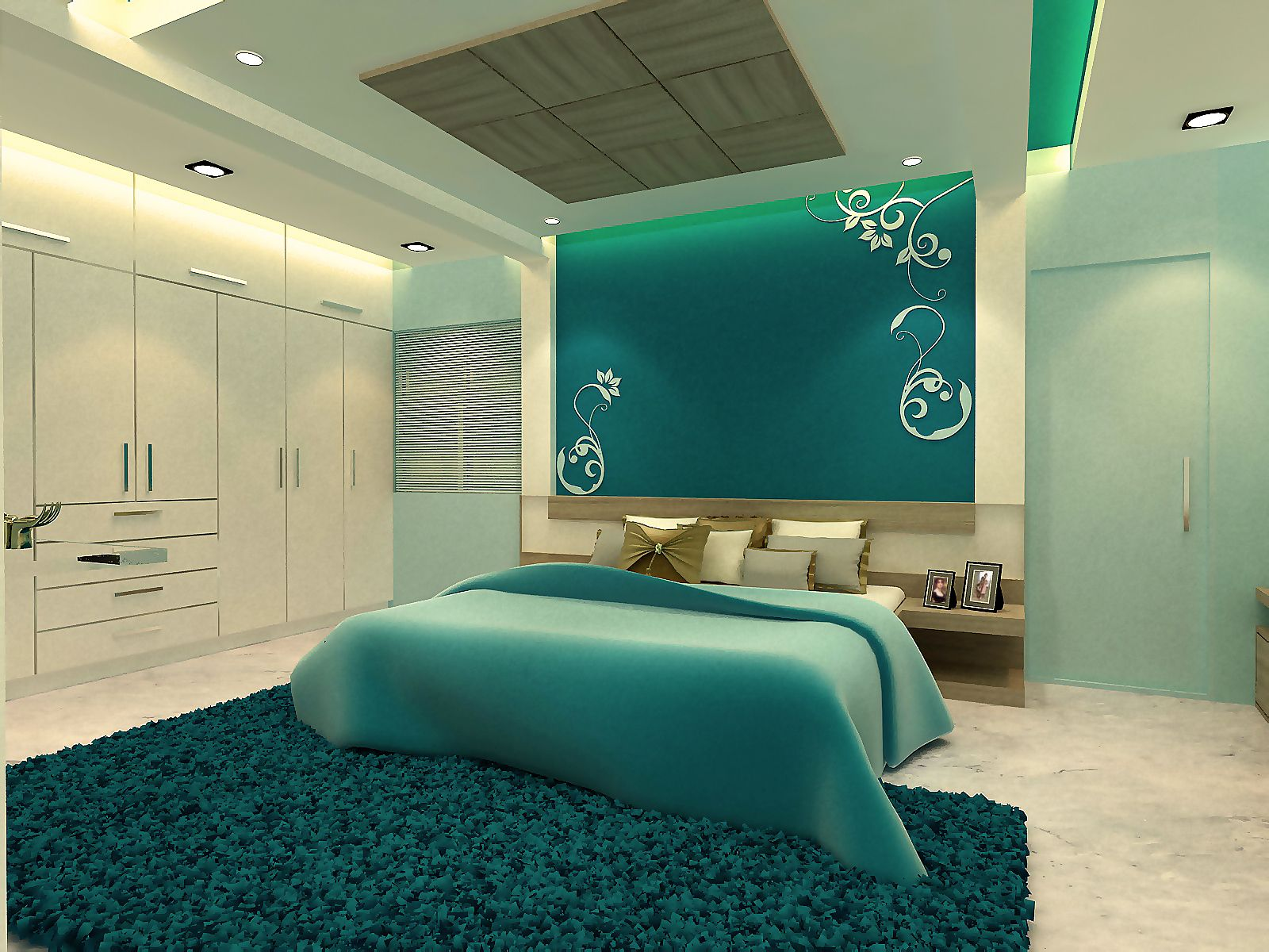 Great 3D Bedroom Interior Design Photo