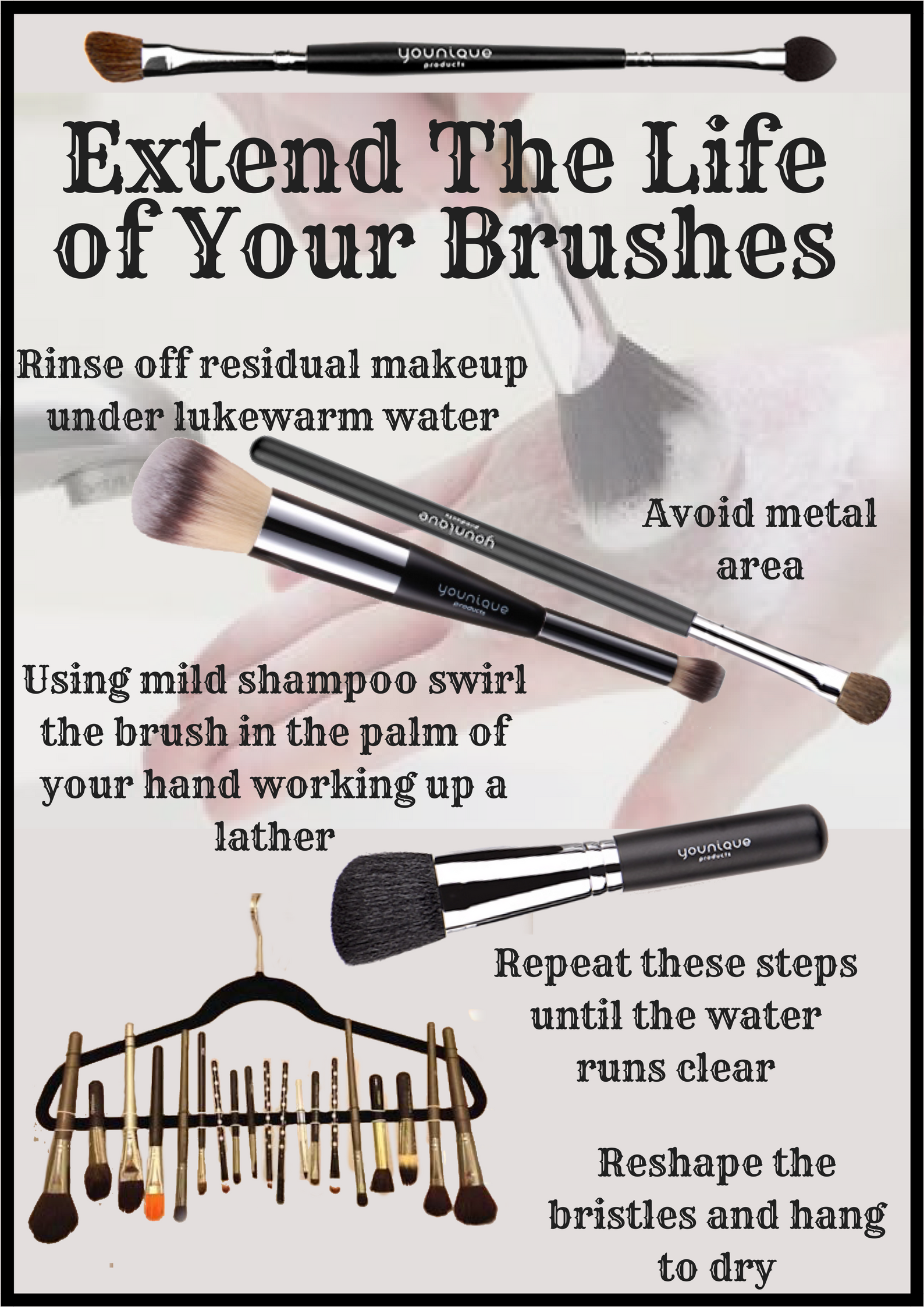 An easy guide to clean makeup brushes  How to clean makeup