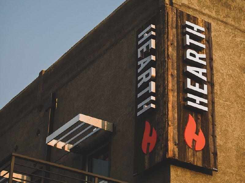 Hearth Restaurant Pub Outdoor Signage Outdoor Signage Hearth Signage