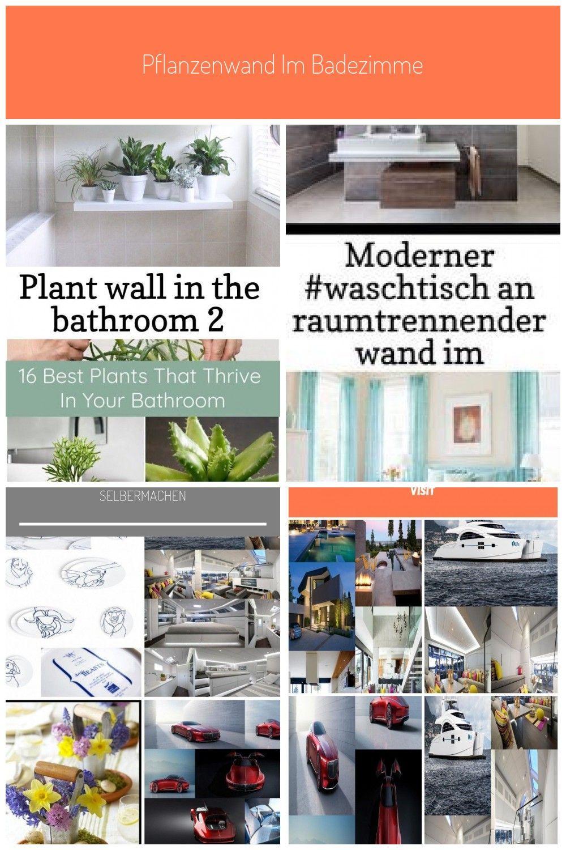 Pflanzenwand im Badezimmer 9 # Badezimmer #Pflanze #Wand - plant