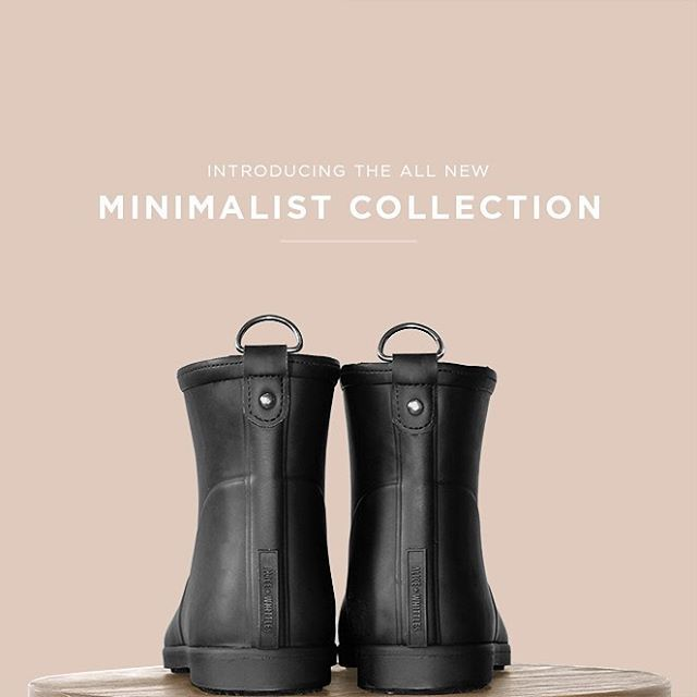 A more minimalist exterior made entirely of natural wild rubber, designed to strip away all that is unnecessary. It's our new understated staple. Available now on aliceandwhittles.com.⠀ ⠀ #aliceandwhittles #awminimalistcollection #sustainablefashion #fairtrade #rainboots #utilitarian #minimalism #farmtoconsumeraliceandwhittles