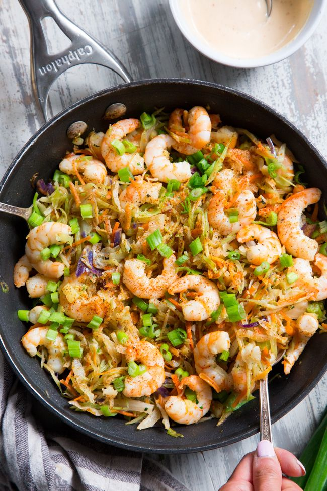 Spicy Shrimp Egg Roll in a Bowl (Paleo, Whole30) #eggrollinabowl