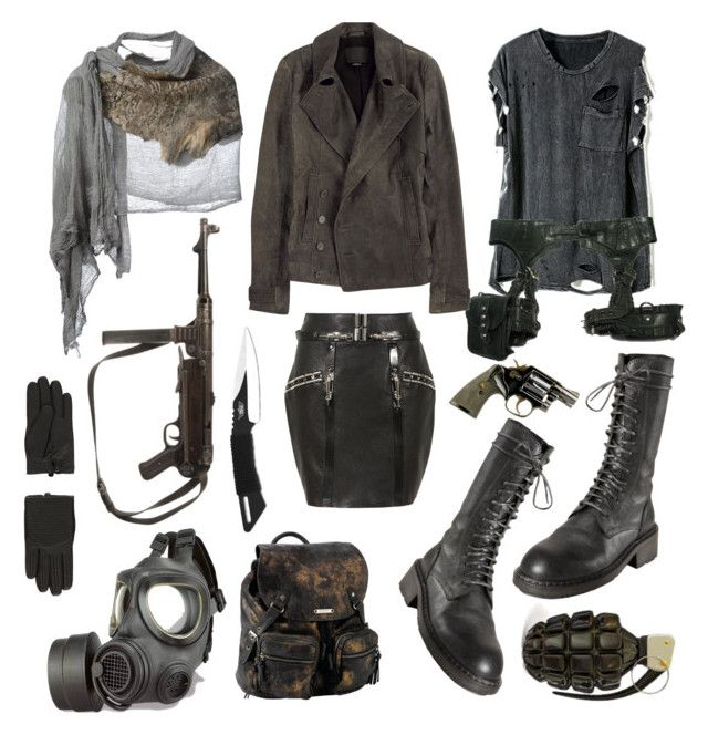 """Post apocalyptic"" by vervainn ❤ liked on Polyvore featuring Anthony Vaccarello, Skingraft, Alexander Wang, Ann Demeulemeester, GAS Jeans, Roxy, UZI, Cutuli Cult, Topshop and military"