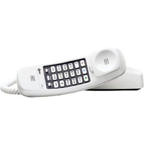 At Amp T 210m Trimline Corded Phone 1 Handset White Trimline