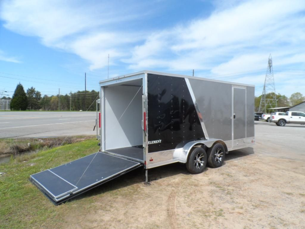 look 7 x 16 enclosed trailer finished 2 tones