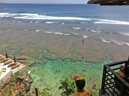 The fabulously beautiful Uluwatu Beach on the Bukit, Bali.