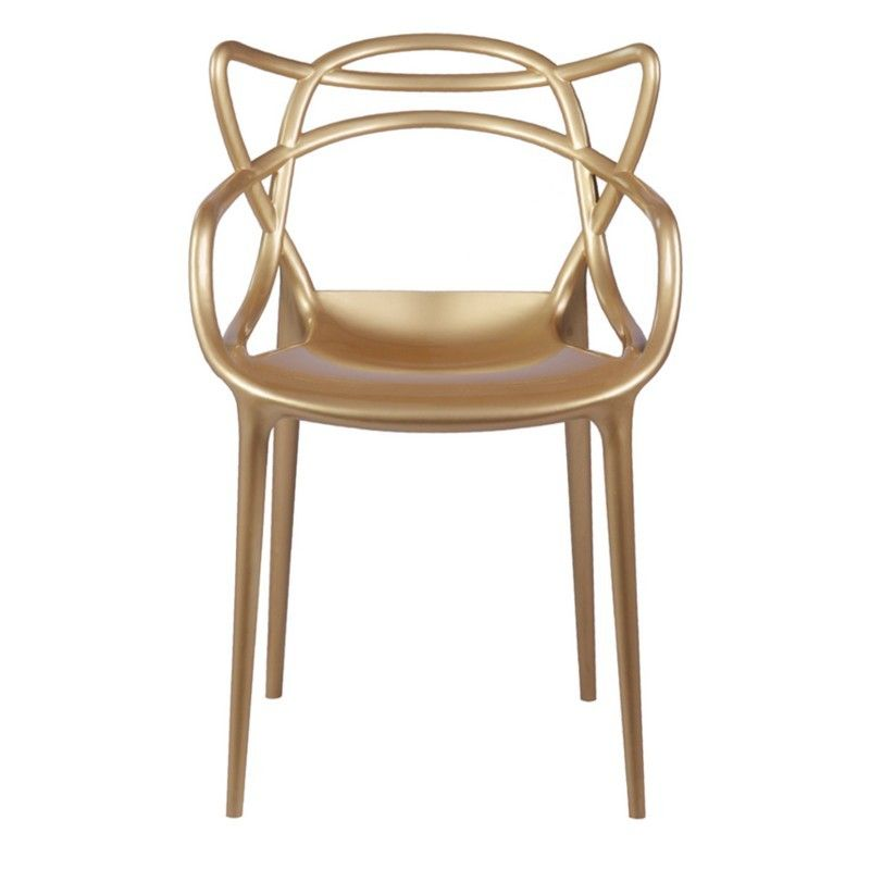 Brand kartell masters dining chair gold fmi10067 by fine